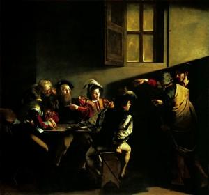 Caravaggio - A vocação de São Mateus 1599-60