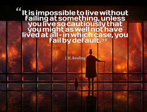 viver sem falhar - frase de J K Rowling