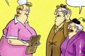 piada velhinho surdo e exame de esperma