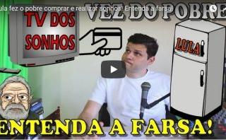 farsa do pobre com dinheiro - Lula